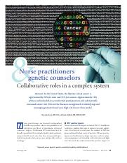 SDL 8 _ Journal Article on Nurse Practitioners  Genetic Counselors.pdf