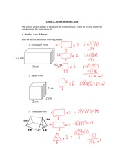 8.1 Surface Area Review