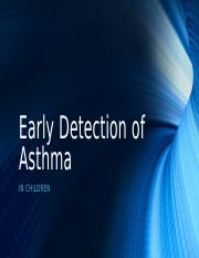 Early Detection of Asthma