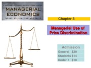 Chapter 8 (Managerial Use of Price Discrimination) Winter 2013