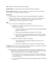 Sample Outline and Bibliography 1