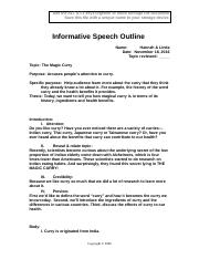 curry speech outline