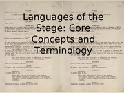Languages of the Stage 8 31