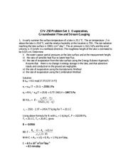 CIV 250 Fall 2011 Problem Set 1 Solutions