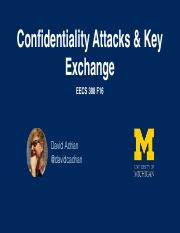 Lecture 5 - Key Exchanges