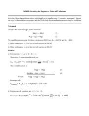 ChE102 - Tutorial 7 Solutions
