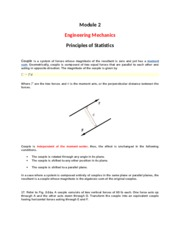 Module 2 - Engineering Mechanics