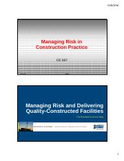 Lecture21-Managing Risk and Delivering Quality