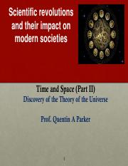 Lecture 10 Space and Time II