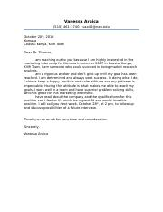 Komaza Assignment Cover Letter