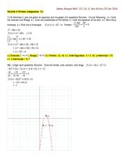 MATH 121 - WRITTEN EXERCISES-MODULE 4