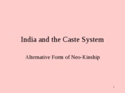 India and the Caste System