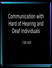 Do's and Don'ts for Communicating with Deaf and HoH.ppt
