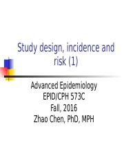 2.1 Study design, incidence and risk