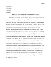 Harlem Renaissance and Racial Inequality.docx