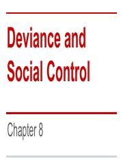 Chapter 8 - Deviance - Students
