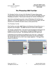 Photoshop CS3 Toolbar