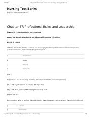Chapter 57_ Professional Roles and Leadership _ Nursing Test Banks.pdf