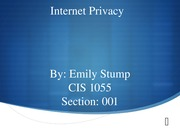 Internet privacy powerpoint class note