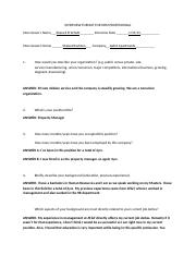 INTERVIEW FORMAT FOR HRM PROFESSIONAL(1)