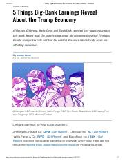 5 Things Big Bank Earnings Reveal About the Trump Economy - TheStreet.pdf