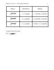 Math 132 Section 7.3 Notes