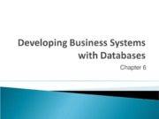 Chapter 6.1 - Developing Business Systems with Databases-1