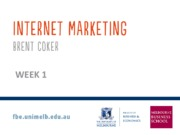 Internet Marketing Week 1 UG 2.0