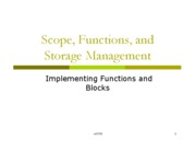 Scope, Functions, and Storage