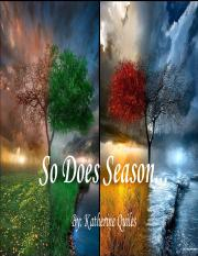 So Does Season - Katherine Quiles