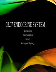 03.07 Endocrine Assingment