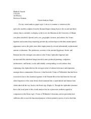 kay history of western art visual analysis paper