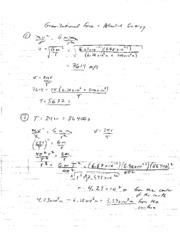 Gravitational Force and Potential Energy Solutions
