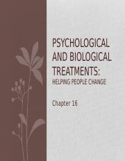 Psychological and Biological Treatments