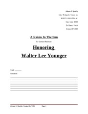 Honring Walter Lee Younger. Alberto Murillo