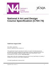 CfE_CourseSpecification_N4_ExpressiveArts_ArtandDesign