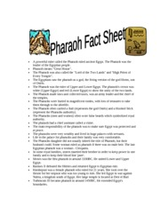 pharoah_fact_sheet