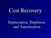 Cost Recovery 2013