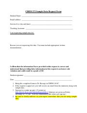 Sample Data Request Form