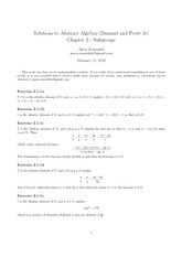 10 solutions to abstract algebra chapter 1 dummit and foote 3e rh coursehero com Abstract Algebra Boods Abstract Algebra Proofs