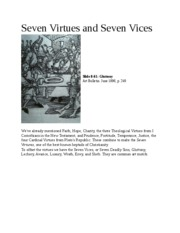 Seven Virtues and Seven Vices