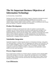 The Six Important Business Objectives of Information Technology