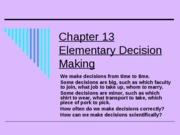ch13elementarydecisionmaking