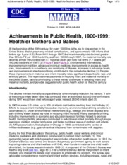 10 Lecture 5-Great Achievements - Infant _ Maternal Health