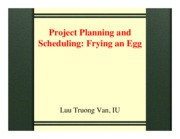 Chapter 6b-Project planning and scheduling - Egg Frying 17-11-2014