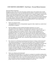 HA 511 - Unit 4 - Unit Written Assignment - Personal Mission Statement