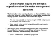 China's water problems