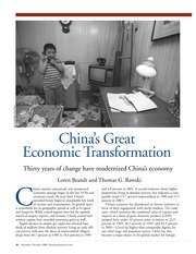week 1-China's Great Economic Transformation
