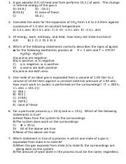 Unit 5 Worksheet - Thermochem-Solutions