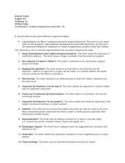 Composition I Graded assignments worksheet -30